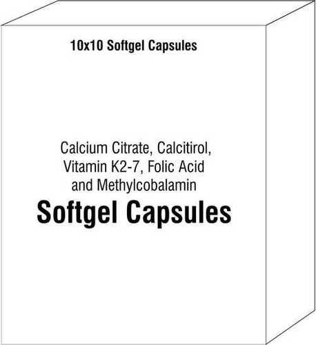 Calcium Citrate, Calcitirol, Vitamin K2-7 Folic Acid and Methylcobalamin