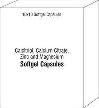 Calcitriol Calcium Citrate Zinc and Magnesium Soft Gel Capsules