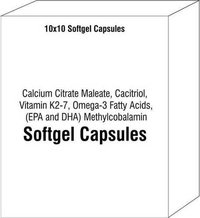 Calcium Citrate Maleate Cacitriol Vitamin K2-7 Omega-3 Fatty Acids (EPA and DHA) Methylcobalamin