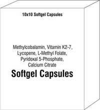 Methylcobalamin Vitamin K2-7 Lycopene L-Methyl Folate Pyridoxal 5 - Phosphate Calcium Citrate