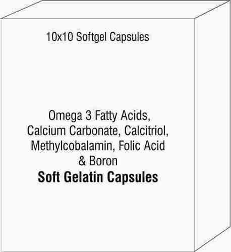 Omega 3 Fatty Acids Calcium Carbonate Calcitriol Methylcobalamin Folic Acid and Boron Softgel