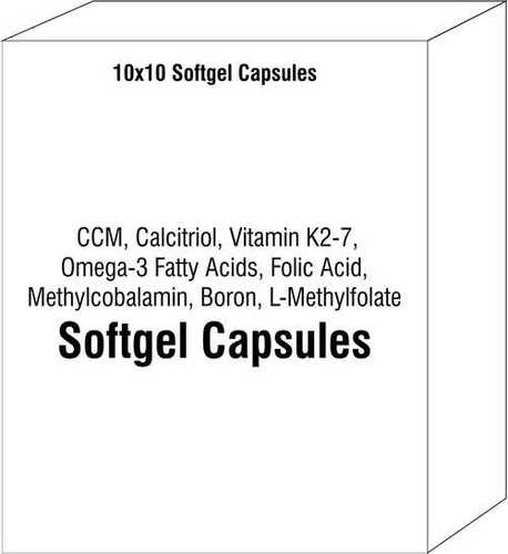 CCM Calcitriol Vitamin K2-7 Omega-3 Fatty Acids Folic Acid Methylcobalamin Boron L-Methylfolate