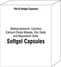 Methylcobalamin Calcitriol Calcium Citrate Maleate Zinc Oxide and Magnesium Oxide Soft Gel Capsules