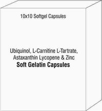 Ubiquinol L-Carnitine L-Tartrate Astaxanthin Lycopene and Zinc