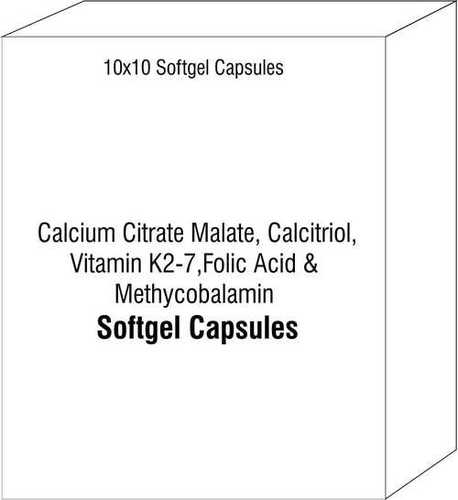 Calcium Citrate Maletae Calcitriol Vitamin K2-7 Folic Acid and Methycobalamin
