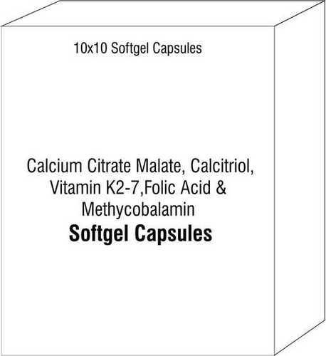 Calcium Citrate Maletae Calcitriol Vitamin K2-7 Folic Acid and Methycobalamin