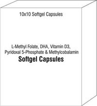 L-Methyl Folate DHA Vitamin D3 Pyridoxal 5-Phosphate and Methylcobalamin