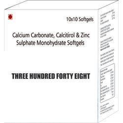 Calcium Carbonate Calcitirol and Zinc Sulphate Monohydrate Softgels Capsules
