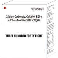 Calcium Carbonate Calcitirol and Zinc Sulphate Monohydrate Softgels Capsules