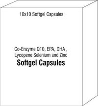 Co-Enzyme Q10 EPA DHA Lycopene Selenium and Zinc Soft Gel Capsules