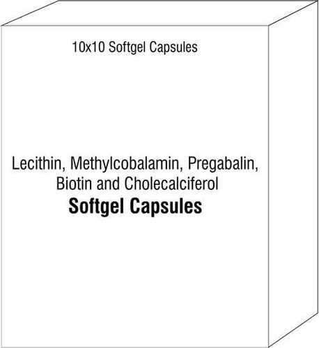 Lecithin Methylcobalamin Pregabalin Biotin and Cholecalciferol Softgels
