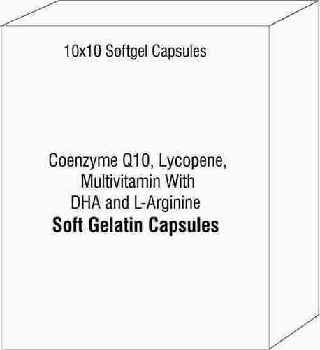Coenzyme Q10 Lycopene Multivitamin With DHA and L-Arginine Softgel Cpasules