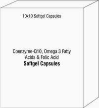 Coenzyme-Q10 Omega 3 Fatty Acids and Folic Acid Softgel Capsules