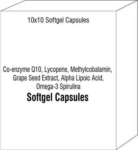 Co-enzyme Q10 Lycopene Methylcobalamin Grape Seed Extract Alpha Lipoic Acid Omega-3 Spirulina