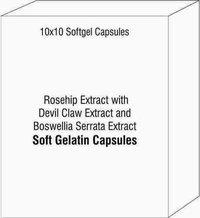 Rosehip Extract with Devil Claw Extract and Boswellia Serrata Extract Softgel Capsules
