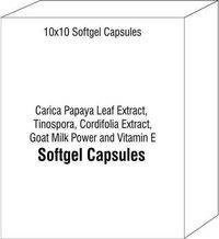 Carica Papaya Leaf Extract Tinospora Cordifolia Extract Goat Milk Power and Vitamin E