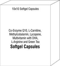 Co-Enzyme Q10 L-Carnitine Methylcobalamin Lycopene Multivitamin with DHA L-Arginine and Green Tea Ex