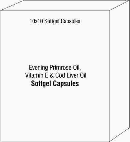 Evening Primrose Oil Vitamin E and Cod Liver Oil Softgel Capsules