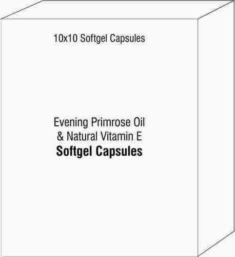 Evening Primrose Oil and Natural Vitamin E Softgel Capsules
