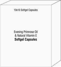 Evening Primrose Oil and Natural Vitamin E Softgel Capsules