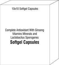 Complete Antioxidant With Ginseng Vitamins Minerals and Lactobacilus Sporogenes Softgel Capsules
