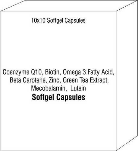 Coenzyme Q10 Biotin Omega 3 Fatty Acid Beta Carotene Zinc Green Tea Extract Mecobalamin Lutein