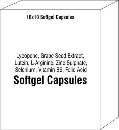 Lycopene Grape Seed Extract Lutein L-Arginine Zinc Sulphate Selenium Vitamin B6 Folic Acid