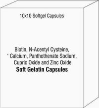 Biotin N-Acentyl Cysteine Calcium Panthothenate Sodium Cupric Oxide and Zinc Oxide Softgel Capsules