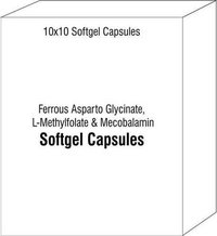 Ferrous Asparto Glycinate L-Methylfolate and Mecobalamin Softgel Capsules
