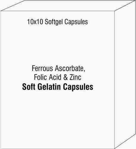 Ferrous Ascorbate Folic Acid And Zinc Soft Gelatin Capsules