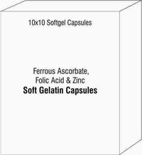 Ferrous Ascorbate Folic Acid And Zinc Soft Gelatin Capsules