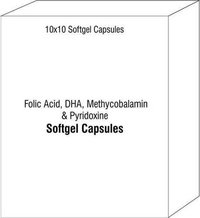 Folic Acid DHA Methycobalamin and Pyridoxine Softgel Capsules
