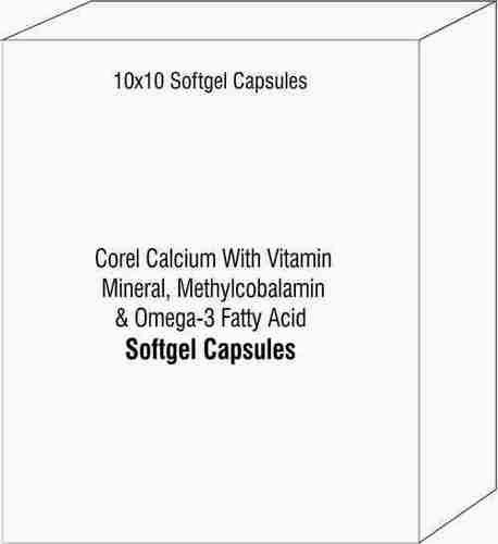 Corel Calcium With Vitamin Mineral Methylcobalamin and Omega-3 Fatty Acid Capsules