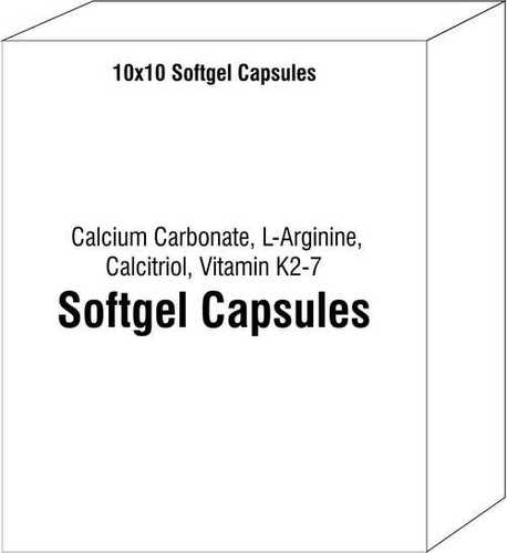 Calcium Carbonate L-Arginine Calcitriol Vitamin K2-7 Soft Gelatin Capsule