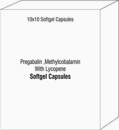 Pregabalin Methylcobalamin With Lycopene Softgelatin Capsules