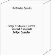 Omega 3 Fatty Acid Lycopene Vitamin E and Vitamin C Softgel Capsules