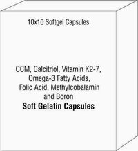 CCM Calcitriol Vitamin K2-7 Omega-3 Fatty Acids Folic ACid Methylcobalamin and Boron Soft Gelatin