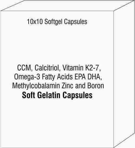CCM Calcitriol Vitamin K2-7 Omega-3 Fatty Acids EPA DHA Methylcobalamin Zinc and Boron Soft Gelatin