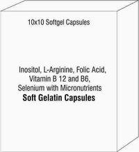 Inositol L-Arginine Folic Acid Vitamin B 12 and B6 Selenium with Micronutrients Softgel Capsules