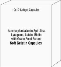 Adenosylcobalamin Spirulina Lycopene Lutein Biotin with Grape Seed Extract Softgel Capsules
