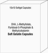 DHA L-Methyfolate Pyridoxal-5-Phosphate and Methylcobalamin Softgel Capsules
