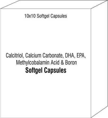 Calcitriol Calcium Carbonate DHA EPA Methylcobalamin Acid and Boron Soft Gelatin Capsules