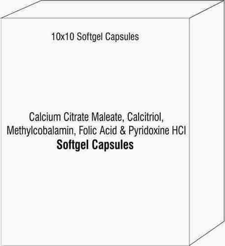 Calcium Citrate Maleate Calcitriol Methylcobalamin Folic ACid and Pyridoxine HCI Softgel Capsules