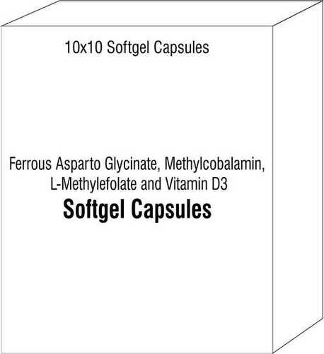 Ferrous Asparto Glycinate Methylcobalamin L-Methylefolate and Vitamin D3 Softgels