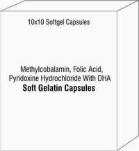 Methylcobalamin Folic Acid Pyridoxine Hydrochloride With DHA Softgel Capsules