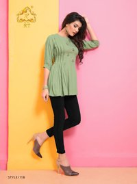 Rayon Dyed Short Top