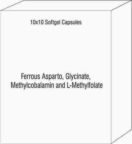 Ferrous Asparto Glycinate Methylcobalamin and L-Methylfolate Softgels