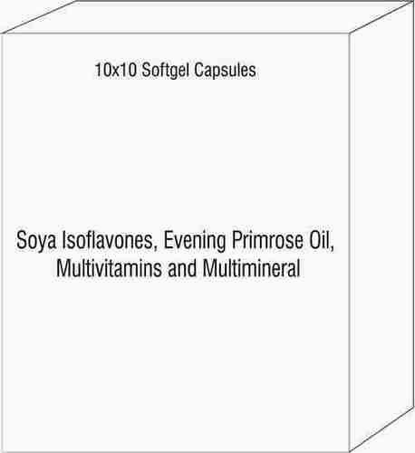 Soya Isoflavones Evening Primrose Oil Multivitamins and Multimineral Softgel Capsules