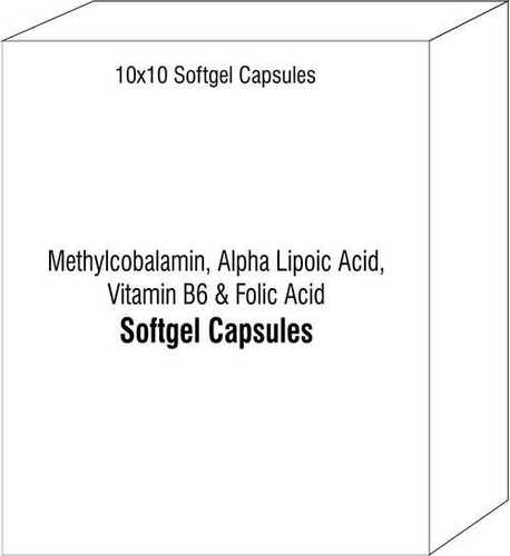 Methylcobalamin Alpha Lipoic Acid Vitamin B6 and Folic Acid Softgel Capsules