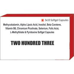Methycobalamin Alpha Lipoic Acid Inositol Beta Carotene Vitamin B6 Chromium Picolinate Selenium